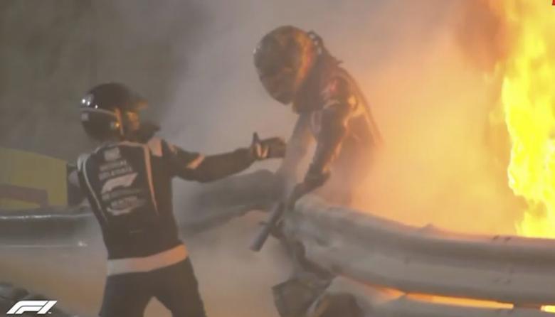 En video   Escalofriante accidente en la F1: Grosjean volvió a nacer