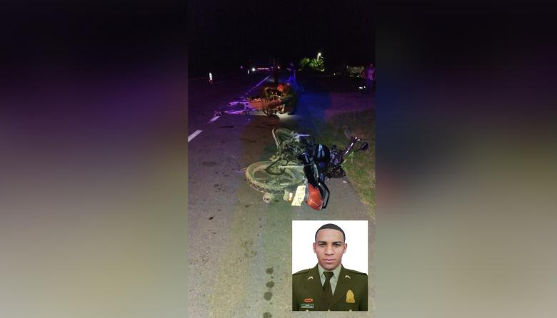 Mueren un policía y un civil en accidente en el sur del Cesar