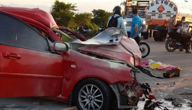 Trágico accidente en carreteras de Cesar deja cuatro muertos