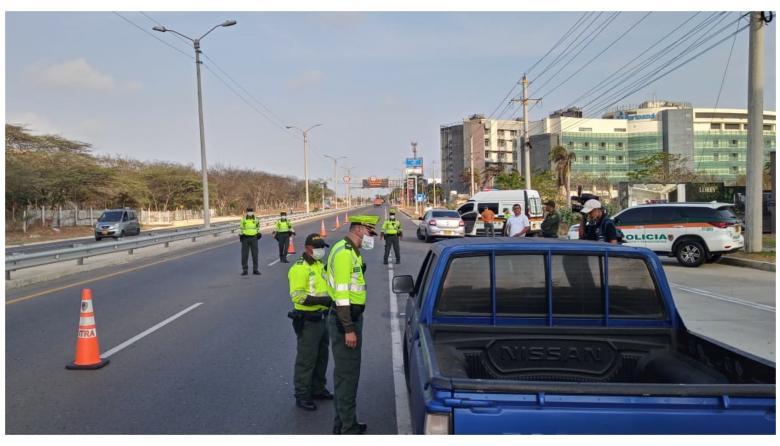 Policía de tránsito refuerza controles en las carreteras del Atlántico