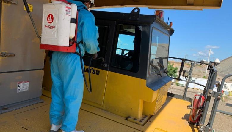 En Cerrejón se han desinfectado unos 300 vehículos