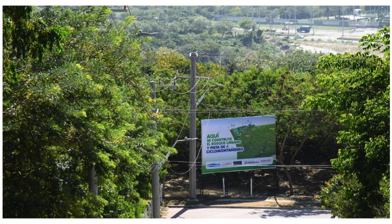 Lugar en donde será construido el Bosque Urbano.
