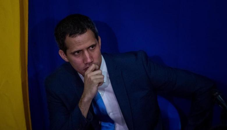 Juan Guaidó durante una sesión del Parlamento.