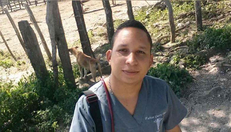 Fabián Guerra, el médico víctima de extorsión.