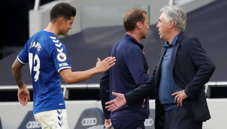 Ancelotti asegura que James está feliz en el Everton