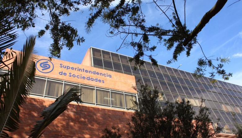 Fachada de la sede de la Superintendencia de Sociedades.