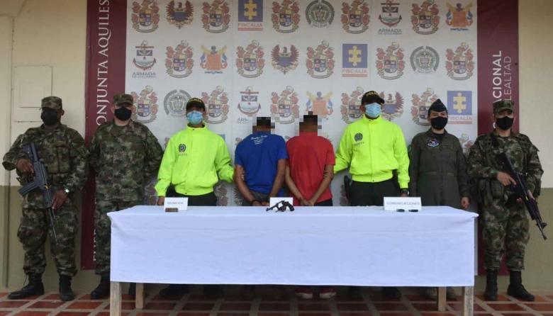 Capturan a presuntos extorsionistas del Clan del Golfo en el sur de Córdoba