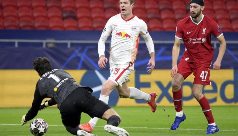 Liverpool vence sin problemas al Leipzig  y está en cuartos de Champions