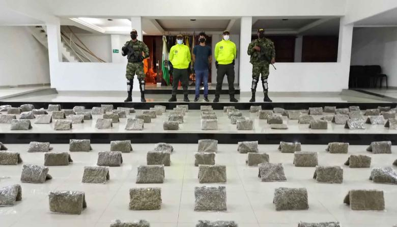 Incautan 129 kilos de marihuana en un allanamiento en Valledupar