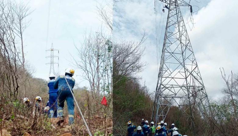 Robo a línea eléctrica mantiene sin energía a dos municipios de La Guajira