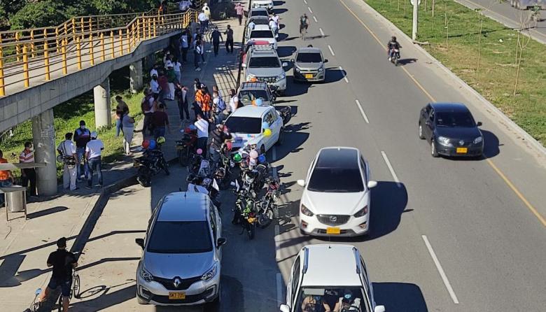 Paro Nacional: caravana y marcha en Santa Marta