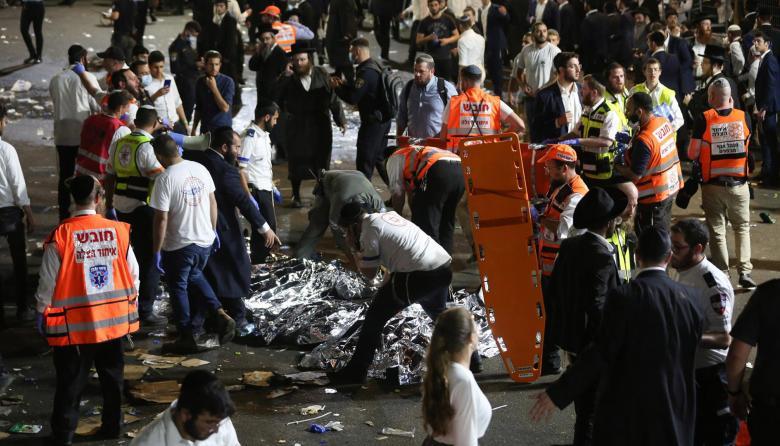 Muertos por estampida humana en festividad religiosa en Israel