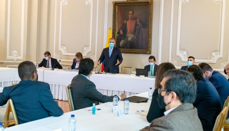 Encuentro del presidente Duque con representantes del comité del paro