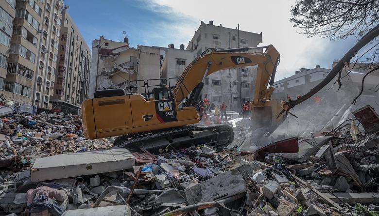 Intensos bombardeos entre Gaza e Israel