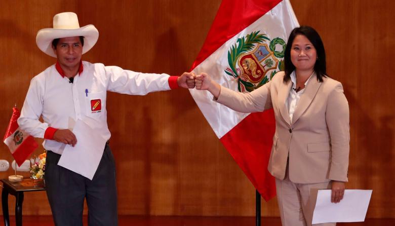 Castillo y Fujimori, la elección más polarizada