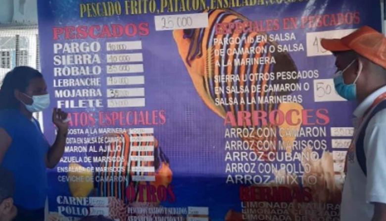 Alcaldía de Santa Marta vigila lista de precios en Playa Blanca
