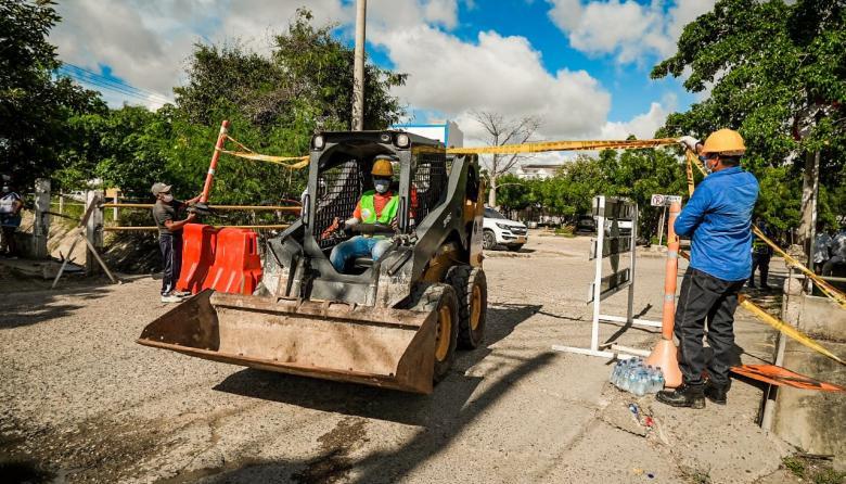 Comenzó rehabilitación de la malla vial de Cartagena