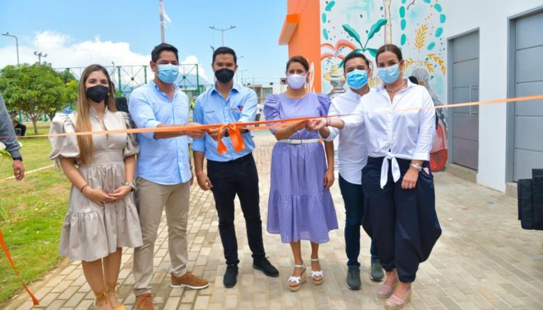 Primera Dama inauguró dos centros 'Sacúdete' en Valledupar