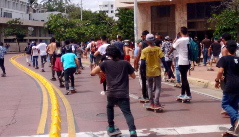 En imágenes: El 'skate' se tomó las calles del Centro Histórico de Cartagena