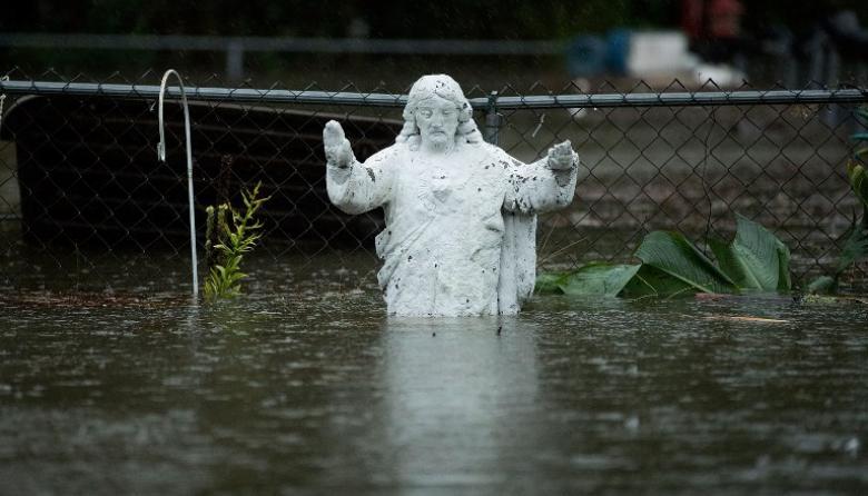 Los estragos por el paso del huracán Florence en EEUU