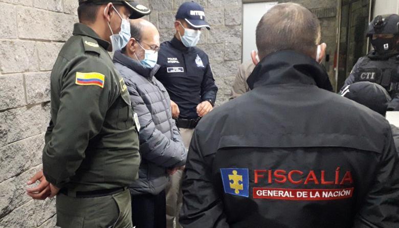 Así llegó 'Jorge 40' a instalaciones de la Fiscalía en Colombia