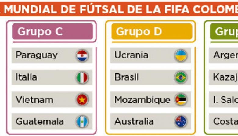 Infografía: Grupos Mundial Futsal Colombia 2016