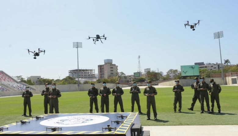 No es solo con drones y cámaras
