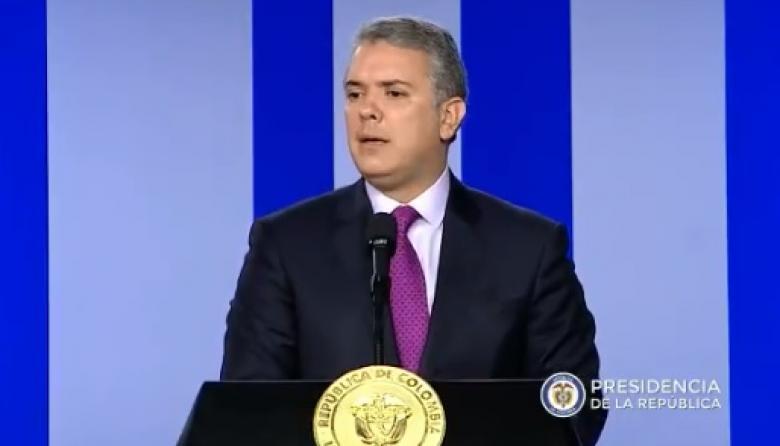 """""""Tenemos voluntad de conversar, pero solo si ELN libera a los secuestrados: Duque"""