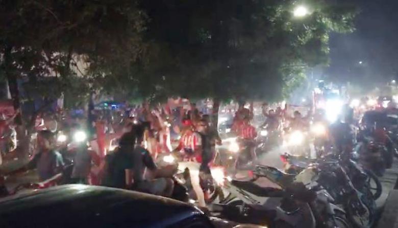 Con caravana celebran la novena estrella de Junior en Sabanalarga