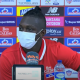 Edwuin Cetré ingresó en el segundo tiempo y revolucionó por momentos el ataque de Junior.