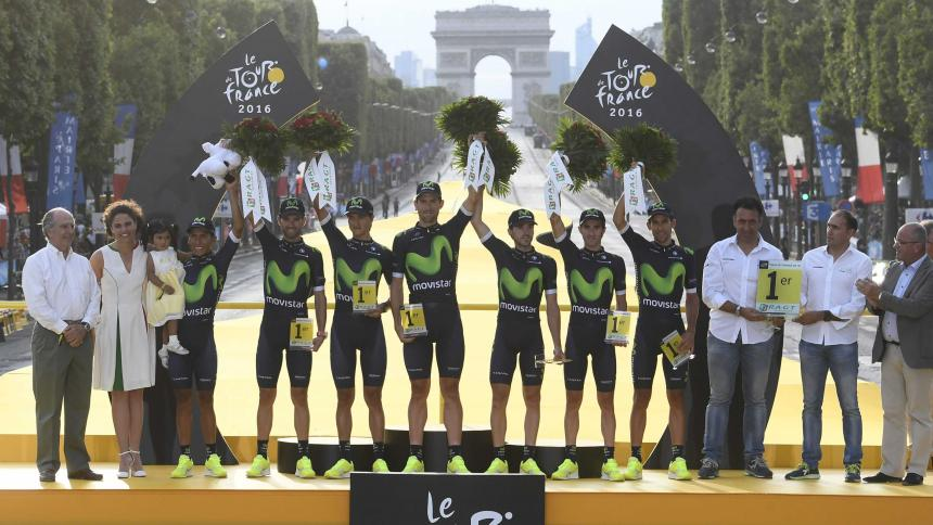 Movistar terminó como el mejor equipo del Tour de Francia 2016.
