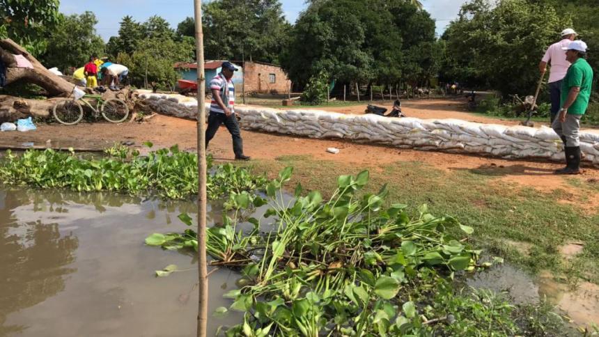 500 familias damnificadas por inundaciones en Tamalameque