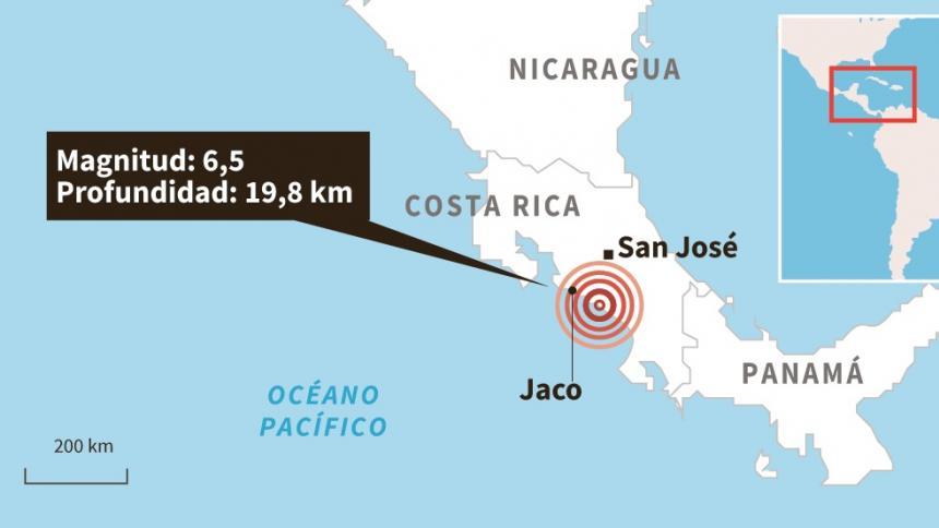 La tierra se movió en Costa Rica