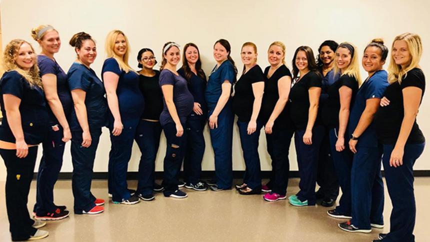 ¡Increíble! 16 enfermeras de un hospital se embarazan al mismo tiempo
