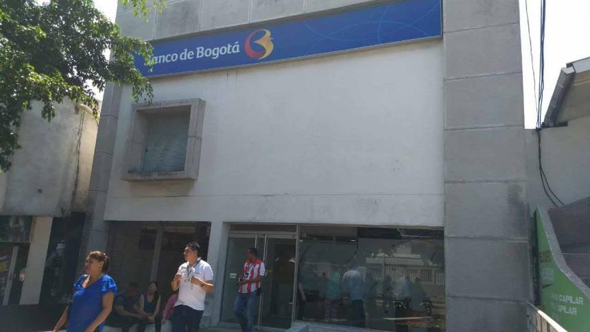 Roban dos sedes del Banco de Bogotá  en Barranquilla, en lapso de seis horas