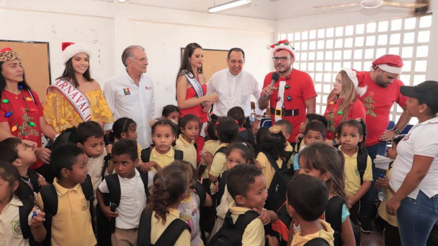 Niños de Leña, en Candelaria, recibieron una Navidad adelantada