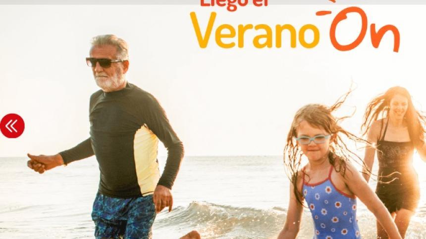 Aspecto de la página web de On Vacation.