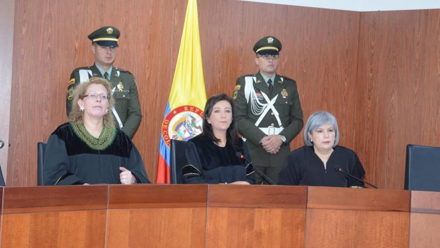 Rueda de prensa de la Corte.