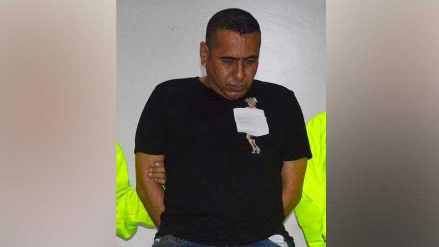 Jorge Eliécer Vélez, capturado.
