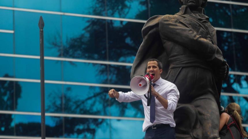 """""""No se rindan"""", pide Guaidó a manifestantes en protesta contra Maduro"""