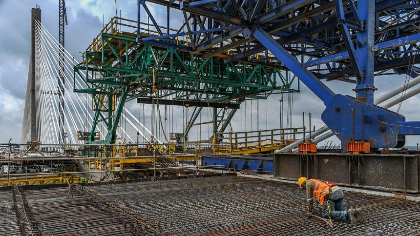 Las obras del nuevo Puente Pumarejo.