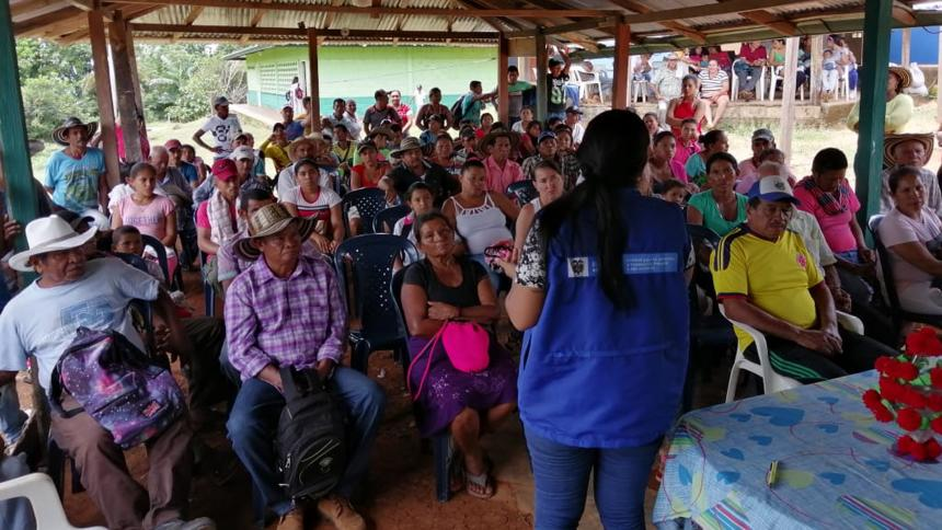 Brigada médica en Brazo Izquierdo, sur de Córdoba.