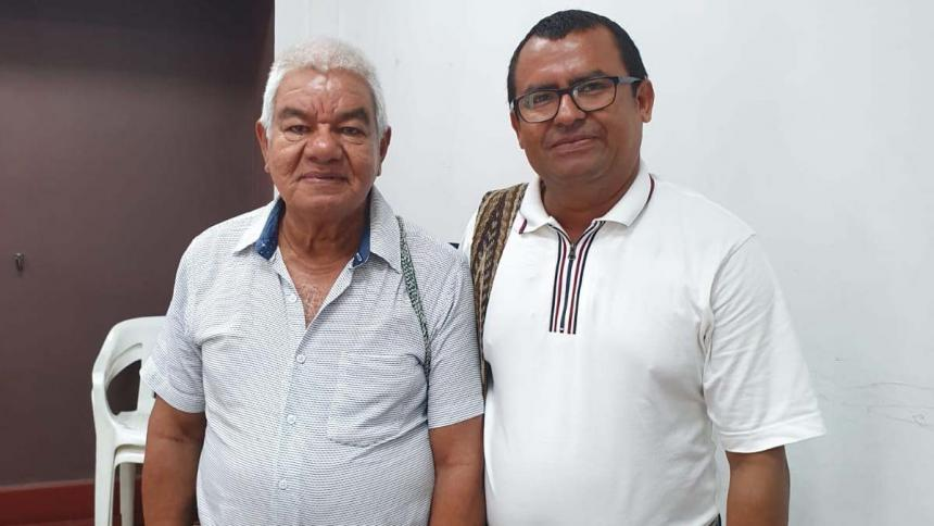 Jairo Peralta y Emerson Baldovino, representantes de los indígenas al Consejo Directivo.