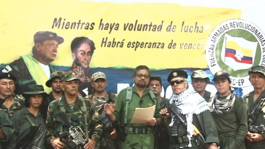 Captura de video donde aparece Márquez anunciando la nueva marquetalia.