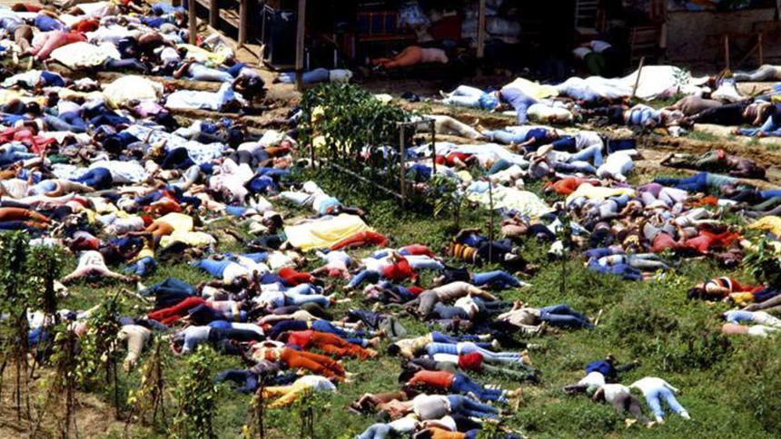 Así quedó el pueblo luego del suicidio de más de 900 personas.