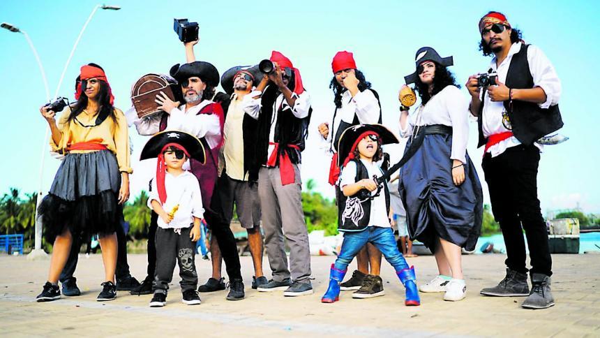 En la fotomaratón se vestirán de piratas.