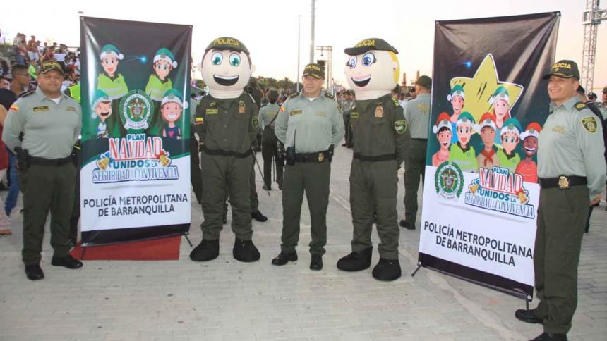 Aspecto del lanzamiento de campaña de seguridad para Navidad y Fin de Año.