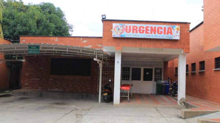 Hospital de Bosconia donde fue atendido el niño.