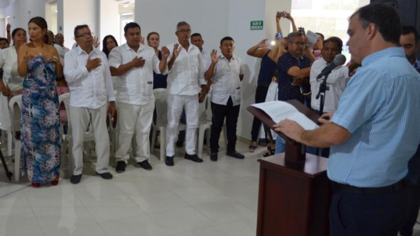 El alcalde Gómez posesionó a los nuevos ediles.