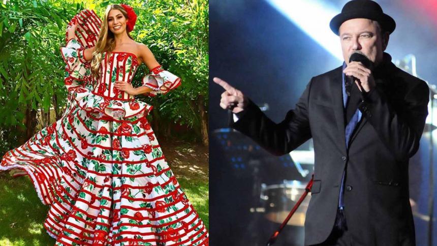 Isabella Chams Vega y Rubén Blades.